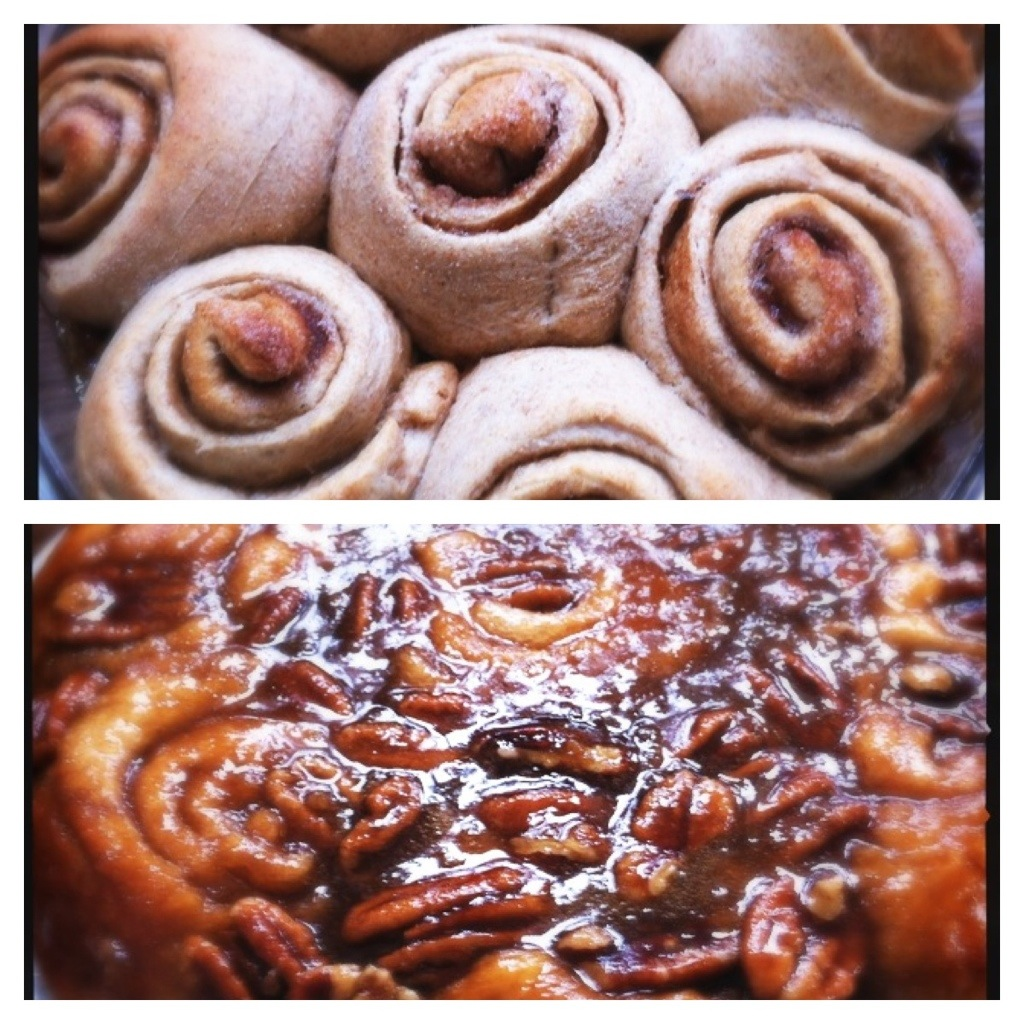 Whole Wheat Caramel Sticky Buns | The Hip Vegetarian