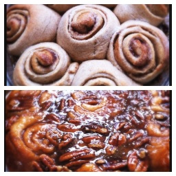 Whole Wheat Caramel Sticky Buns | @HipVegetarian
