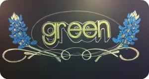 green logo art | @HipVegetarian