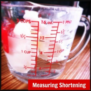 Measuring Shortening | @HipVegetarian