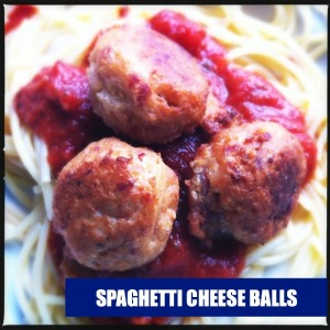 Spaghetti Cheese Balls | @HipVegetarian
